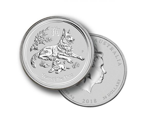 1kg Silver Year Of the Dog (Mixed Years) image