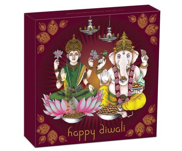 1 Oz Silver Diwali Laxmi & Ganesh (2021) Box Set image