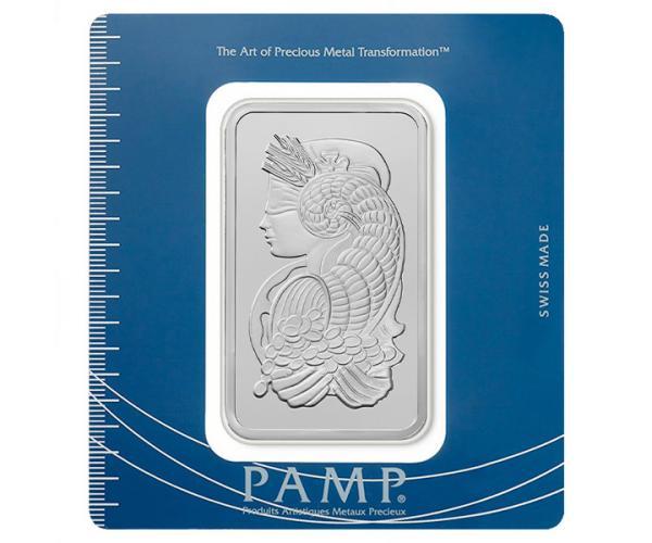 100 Gram PAMP Investment Silver Bar .999 image