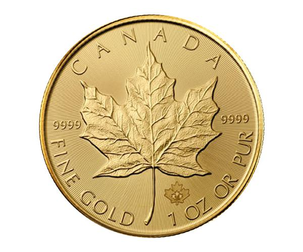 1 Ounce Gold Maple Leaf Coin (Mixed Years) 999.9 image