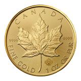 1 Ounce Gold Maple Leaf Coin (Mixed Years) 999.9