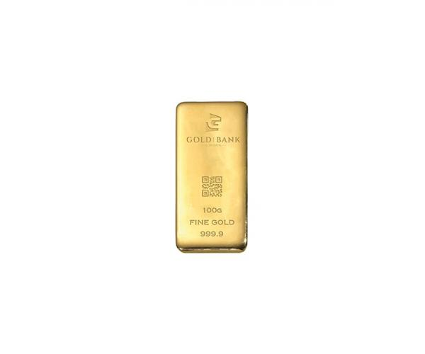100 Gram Gold Bank Investment Gold Bar (999.9) image
