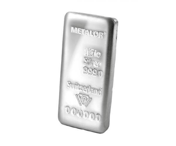 1KG Metalor Investment Silver Bar .999 image