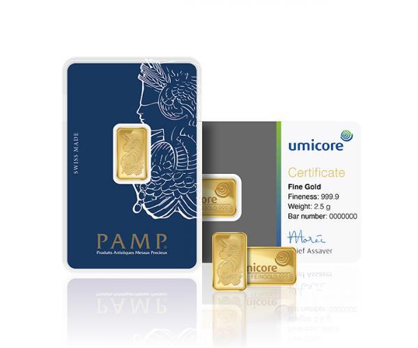 2.5 Gram Assorted Investment Gold Bars