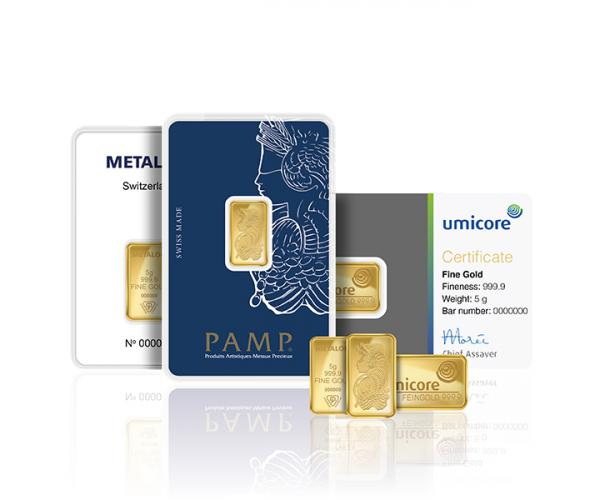 5 Gram Mixed Brands Investment Gold Bar (999.9) image