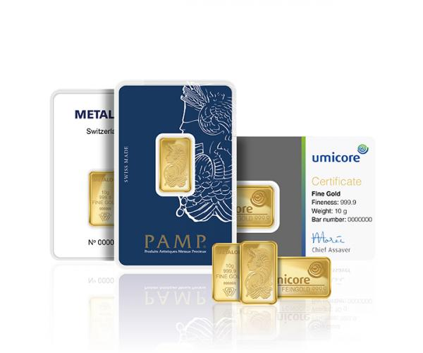 10 Gram Mixed Brands Investment Gold Bar (999.9) image