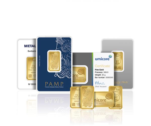20 Gram Assorted Investment Gold Bar (999.9) image