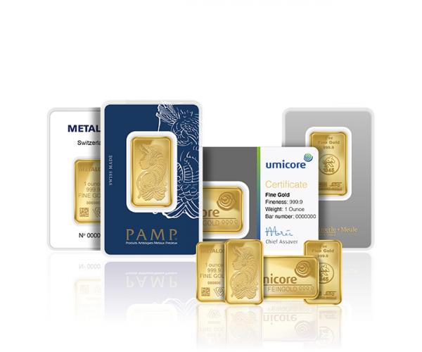 1 Ounce Assorted Investment Gold Bar (999.9) image