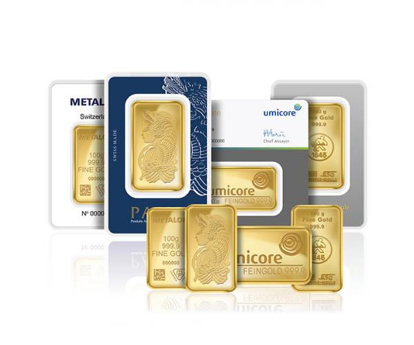 100 Gram Mixed Brands Investment Gold Bar (999.9) image