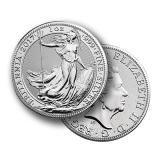 1 Ounce Silver Britannia Coin (Mixed Years) .999