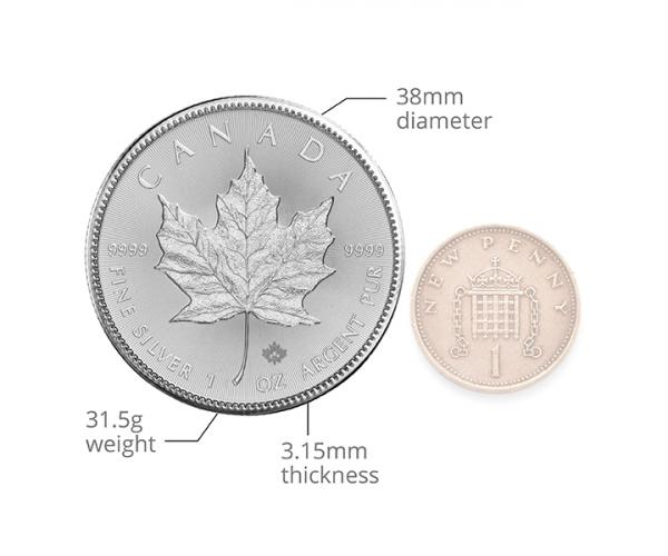 1 Ounce Silver Maple Leaf (Mixed Years) .999 image