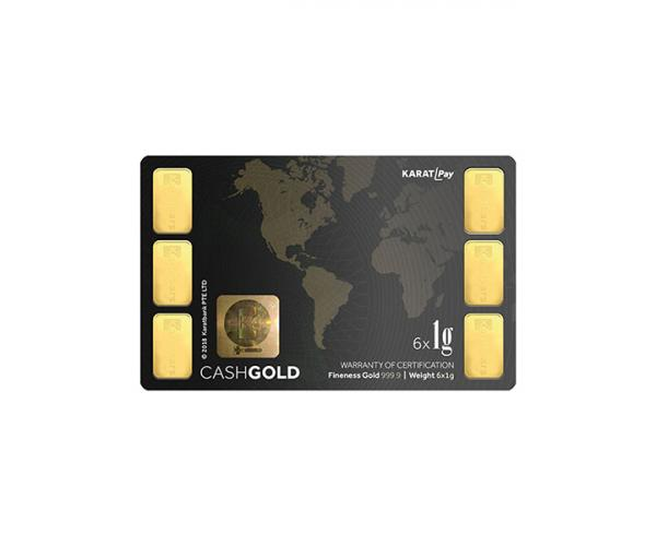 6 x 1 Gram Investment Karat Bar (999.9) image