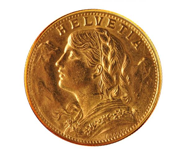 20 Swiss Francs Gold Coin (Mixed Years) .900 image