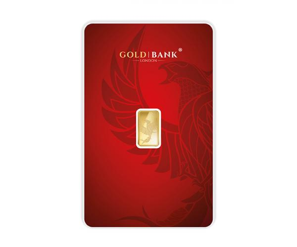 1 Gram Gold Bank Investment Gold Bar Phoenix Edition (999.9) image