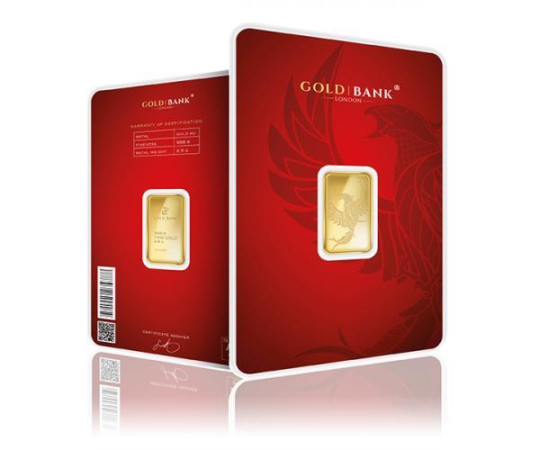 2.5 Gram Gold Bank Investment Gold Bar Phoenix Edition (999.9) image