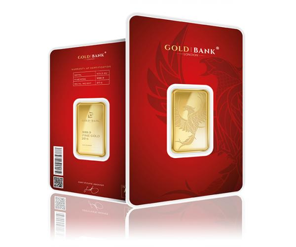 20 Gram Gold Bank Investment Gold Bar Phoenix Edition (999.9) image