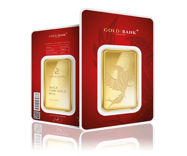 50 Gram Gold Bank Investment Gold Bar Phoenix Edition (999.9) Pre Order image