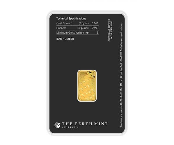 5 Gram Perth Mint Investment Gold Bar (999.9) image