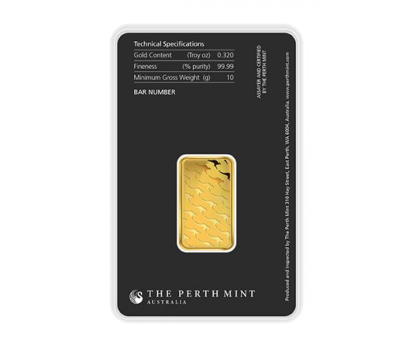 10 Gram Perth Mint Gold Investment Bar (999.9) image