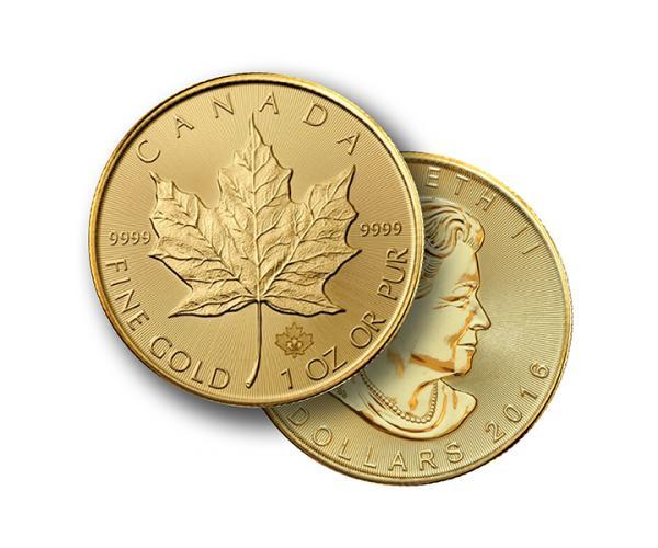 1oz Gold Maple Leaf FrontBack