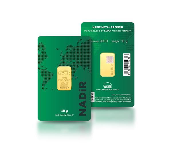 10 Gram Nadir Investment Gold Bar (999.9) image