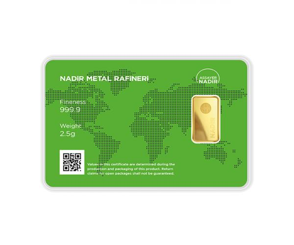 2.5 Gram Nadir Investment Gold Bar (999.9) image