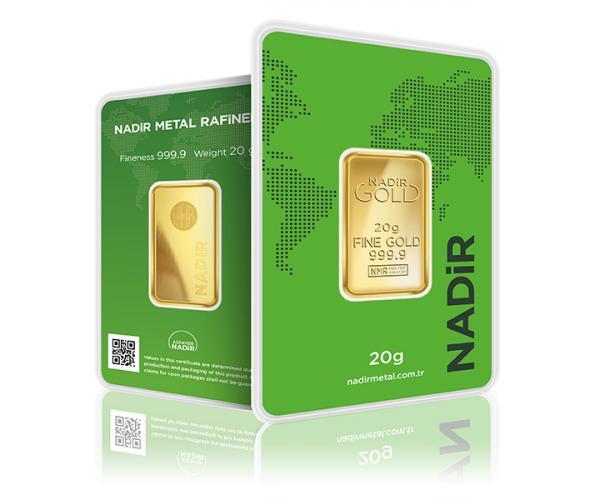 20 Gram Nadir Investment Gold Bar (999.9) image