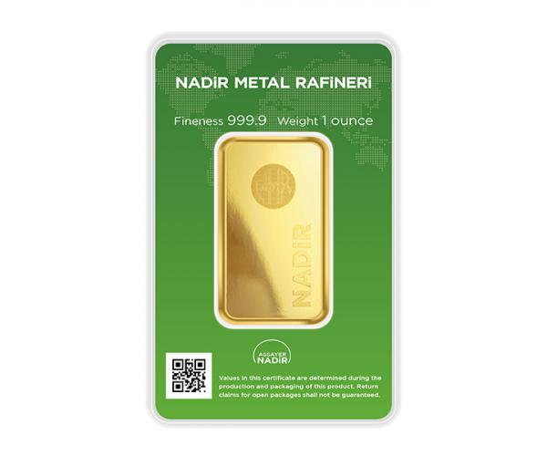 1 Ounce Nadir Investment Gold Bar (999.9) image