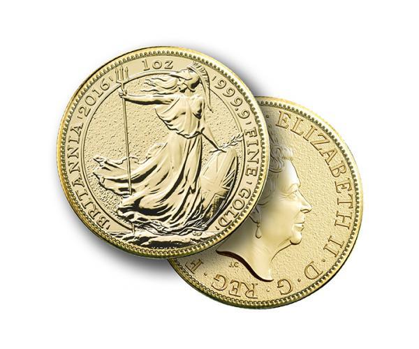 1oz Gold Britannia Frontback
