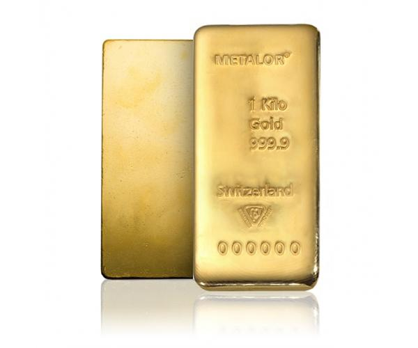 Metalor Gold Bar 1kg FrontBack