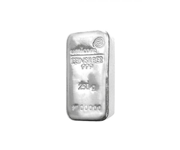 250 Gram Umicore Investment Silver Bar .999 image