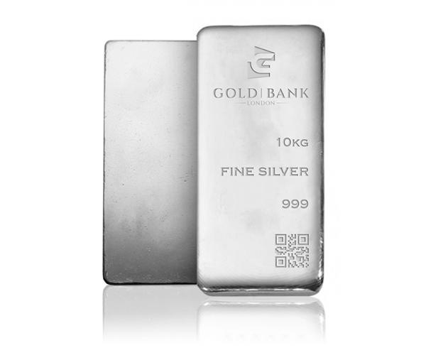 1X 10KG Gold Bank Silver Investment Bar Monster Box .999 image