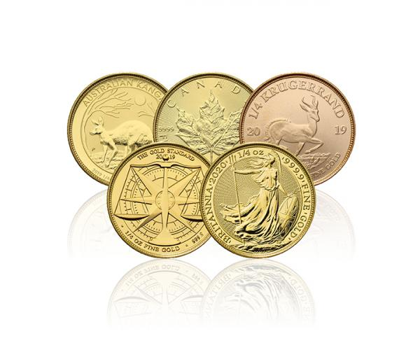 Assorted Quarter Ounce Gold Coin image