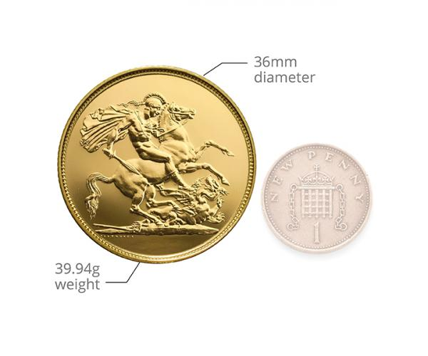 £5 British Gold Coin Quintuple Sovereign (Mixed Years) image