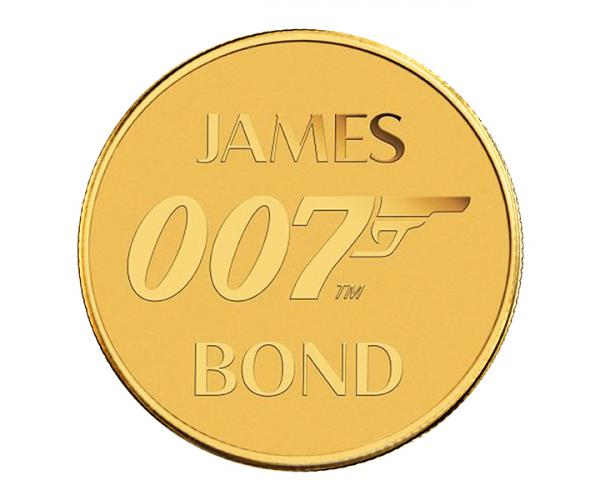 0.5 Gram 007 James Bond Gold Coin In Card image