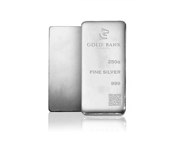 250 Gram Gold Bank Investment Silver Bar .999 image