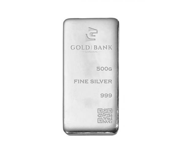 500 Gram Gold Bank Investment Silver Bar .999 image