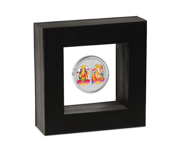 1 Ounce Diwali Lakshmi and Ganesha Silver Coin Gift Set image