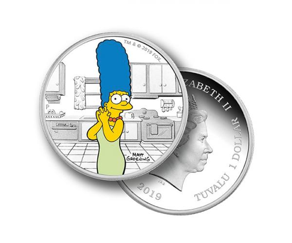1 Oz Marge Simpson 2019 Silver Coin image