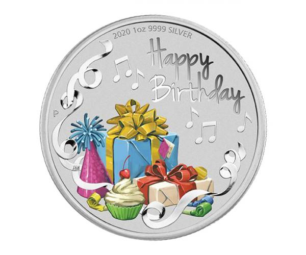 1 Ounce Happy Birthday 2020 Silver Coin Gift Set .999 image