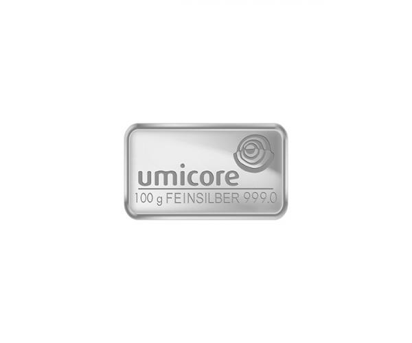 100 Gram Umicore Investment Silver Bar .999 image