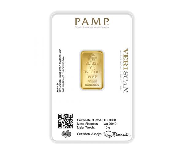 10 Gram PAMP Investment Gold Bar (999.9) image