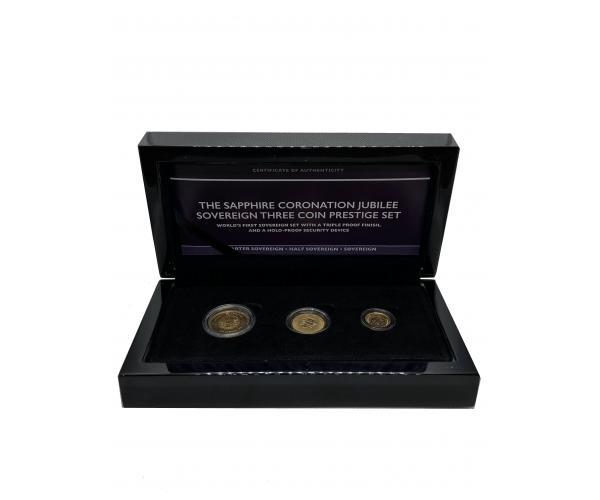 The 2018 Sapphire Coronation Jubilee Gold Full, Half and Quarter Set image