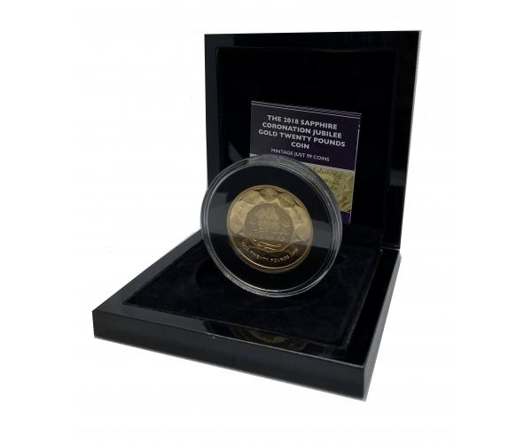 The 2018 Sapphire Coronation Jubilee Gold Twenty Pounds Coin image