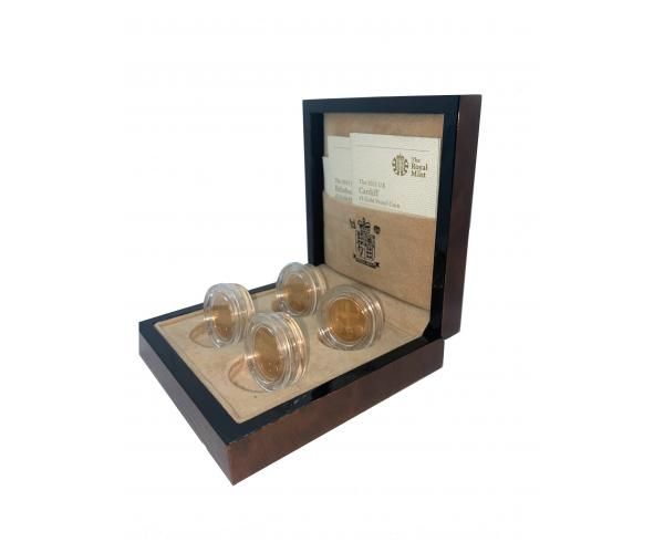 4X £1 Gold Proof Coin Gift Box Set image