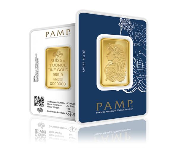 1 Ounce PAMP Investment Gold Bar (999.9) image