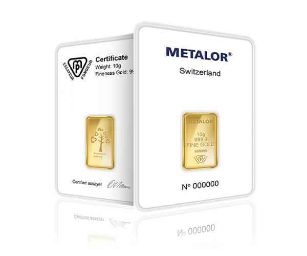 10 Gram Metalor Investment Gold Bar (999.9) image