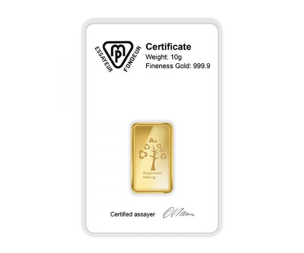 20 Gram Metalor Investment Gold Bar (999.9) image
