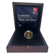 The Royal Air Force Centenary One Pound Gold Coin Boxed image