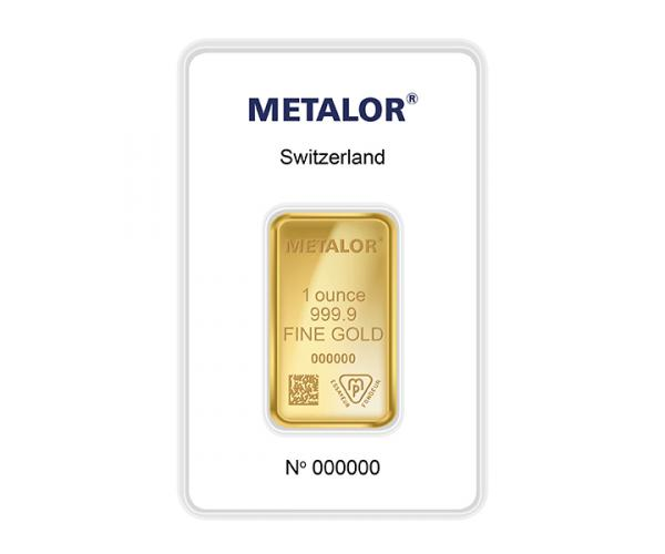 1 Ounce Metalor Investment Gold Bar (999.9) image
